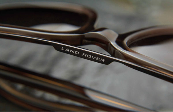 Land Rover sunglass frame with Land Rover brand name