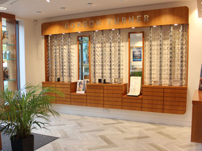 Interior photo of Gordon Turner Optometrists