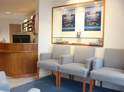 Interior of Gordon Turner Optometrists