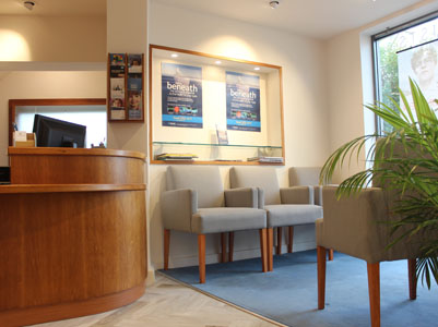 Interior photo of Gordon Turner Optometrists showing Waiting Area